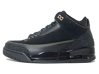 AIR JORDAN 3 BHM black history month black/metallic gold