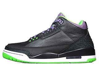 AIR JORDAN 3 RETRO ALL STAR joker black/electric green-canyon purple-pure violet