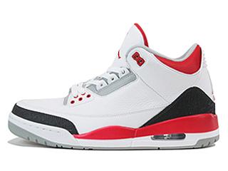 AIR JORDAN 3 RETRO white/fire red-silver-black