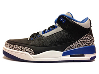AIR JORDAN 3 RETRO SPORT BLUE black/sport blue-wolf grey