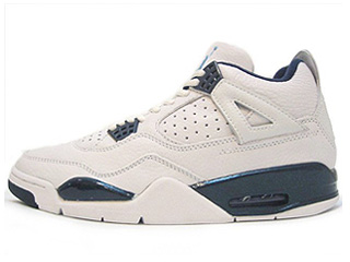 AIR JORDAN 4 RETRO + 1999 white/columbia blue-mn navy