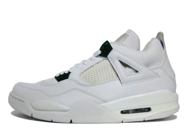 AIR JORDAN 4 RETRO white/chrome-classic green