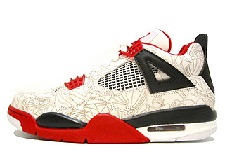 AIR JORDAN 4 RETRO lazer white/varsity red-black