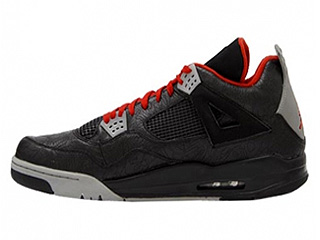 AIR JORDAN 4 RETRO rare air laser black/cement grey