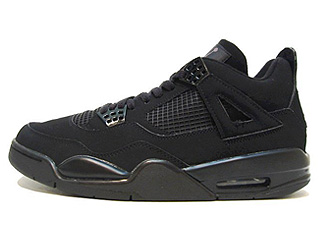 AIR JORDAN 4 RETRO black cat black/black-lt graphite