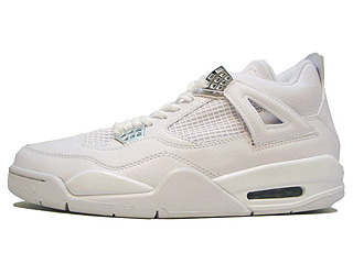 AIR JORDAN 4 RETRO pure $ white/metallic silver