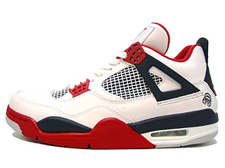 AIR JORDAN 4 RETRO mars white/varsity red-black