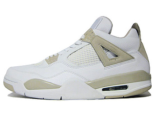 WMNS AIR JORDAN 4 RETRO white/border blue-light sand