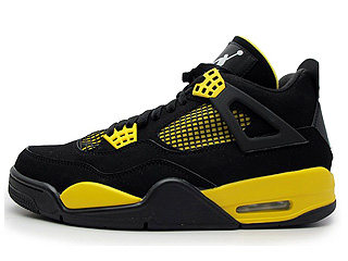 AIR JORDAN 4 RETRO LS thunder black/tour yellow-white