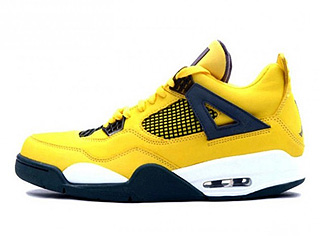 AIR JORDAN 4 RETRO LS lightning tour yellow/dark blue-grey-white