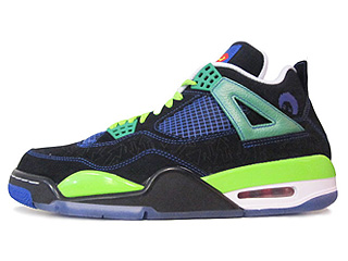 AIR JORDAN 4 RETRO DB doernbecher black/old ryl-elctrc grn-white