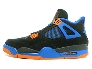AIR JORDAN 4 RETRO cavs black/safety orange-game royal