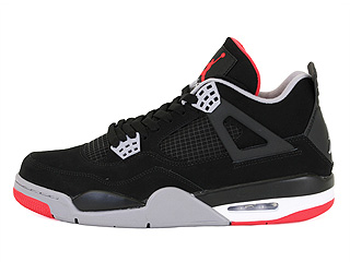 AIR JORDAN 4 RETRO black/cement grey-fire red
