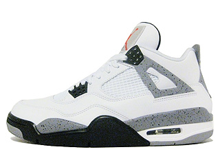 AIR JORDAN 4 RETRO white/black-cement grey