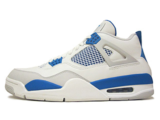 AIR JORDAN 4 RETRO white/military blue-ntrl grey