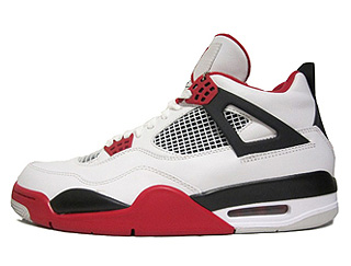 AIR JORDAN 4 RETRO white/varsity red-black
