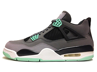 AIR JORDAN 4 RETRO green glow drk grey/grn glw-cmnt grey-blk