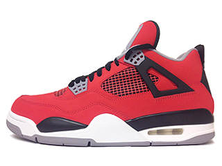 AIR JORDAN 4 RETRO toro bravo ire red/white-back-cmnt grey