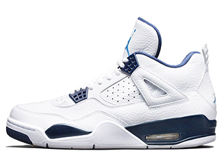 AIR JORDAN 4 RETRO LEGEND BLUE white/legend blue-midnight navy