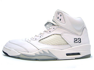 AIR JORDAN 5 RETRO + 3/4 HI MEN white/metallic silver-black