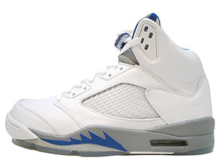 AIR JORDAN 5 RETRO white/sport royal-stealth