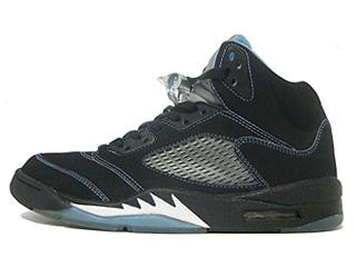 AIR JORDAN 5 RETRO LS black/university blue-white