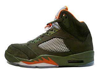 AIR JORDAN 5 RETRO LS army olive/solar orange