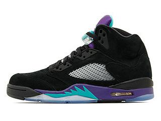 AIR JORDAN 5 RETRO black grape black/new emerald-grape ice
