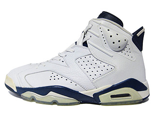 AIR JORDAN 6 RETRO white/midnight navy