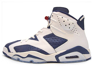 AIR JORDAN 6 RETRO + olympic midnight navy/varsity red-white