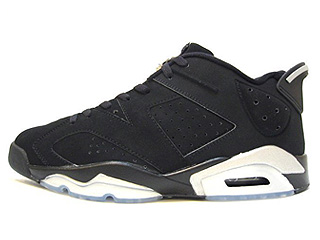 AIR JORDAN 6 RETRO LOW black/metallic silver