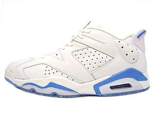 AIR JORDAN 6 RETRO LOW white/university blue