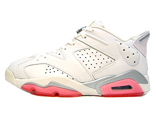 WMNS AIR JORDAN 6 RETRO LOW white/coral rose