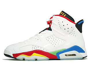 AIR JORDAN OLYMPIC 6 white/varsity red-grn bn-nw bl