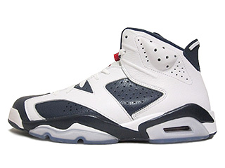 AIR JORDAN 6 RETRO olympic white/midnight navy-vrsty red
