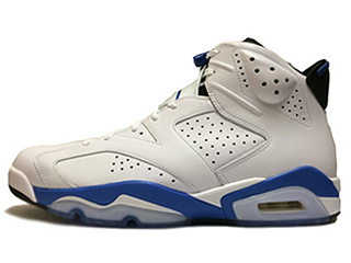 AIR JORDAN 6 RETRO SPORT BLUE white/sport blue-black