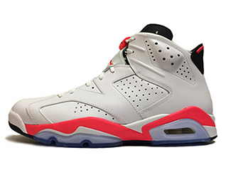 AIR JORDAN 6 RETRO INFRARED 2014 white/infrared-black