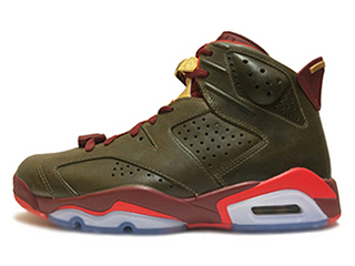 AIR JORDAN 6 RETRO CIGAR raw umber/team red-metallic gold-challenge red