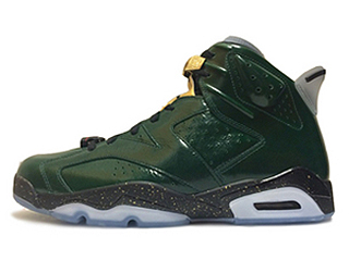AIR JORDAN 6 RETRO CHAMPAGNE green/glow
