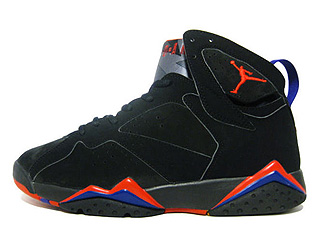 AIR JORDAN 7 RETRO raptor black/dark charcoal-true red