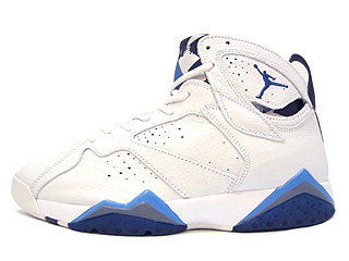 AIR JORDAN 7 RETRO white/french blue-flint grey