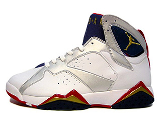 AIR JORDAN 7 RETRO olympic white/metallic gold-midnight navy-true red