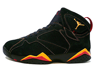 AIR JORDAN 7 RETRO black/citrus-varsity red