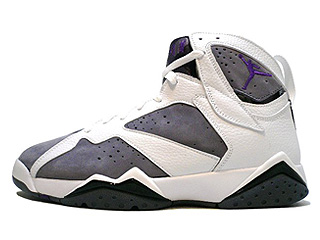 AIR JORDAN 7 RETRO white/varsity purple-flint grey