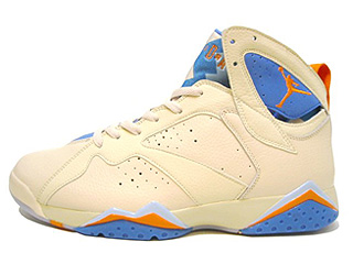 AIR JORDAN 7 RETRO pearl white/bright ceramic-pacific blue