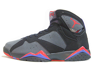 AIR JORDAN 7 RETRO defining moments black/dark charcoal true red