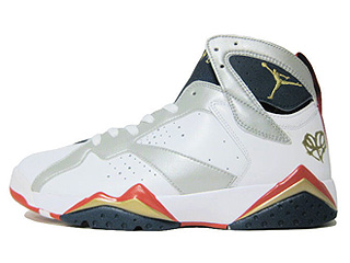 AIR JORDAN 7 RETRO for the love of the game white/mtllc gold-tr rd-mid nvy