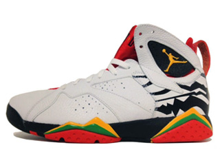 AIR JORDAN 7 RETRO PREMIO bin 23 white/del sol-black-chllng red