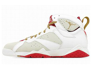 AIR JORDAN 7 RETRO YOTR year of the rabbit lght slvr/mtllc gld-tr rd-wht