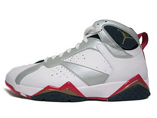 AIR JORDAN 7 RETRO olympic white/mtllc gold-obsdn-tr rd